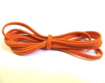 orange 3 x 1 m wool color suede cord