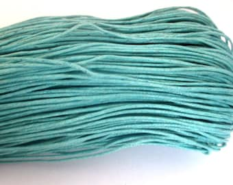 10 meters 0.7 mm emerald blue waxed cotton thread