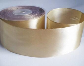 1 m 40mm gold satin ribbon