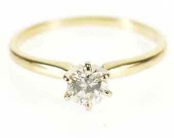 14k 0.50 Ctw Diamond Solitaire Prong Engagement Ring Gold