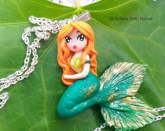 fairy butterfly charm pendant no necklace  in fimo polymer clay