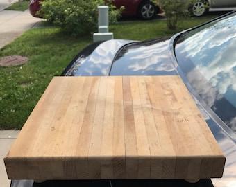 Cutting board with cute peg legs