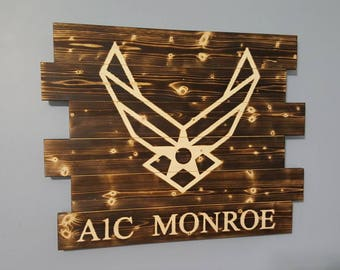 United States Air Force Wooden Rustic Wall Art