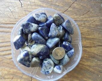 1 lb Sodalite Tumbled Stones, bulk crystals, chakra stone, tumbled stones, bulk sodalite