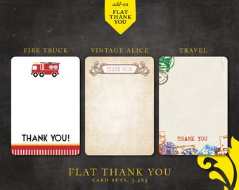 FLAT . thank you cards