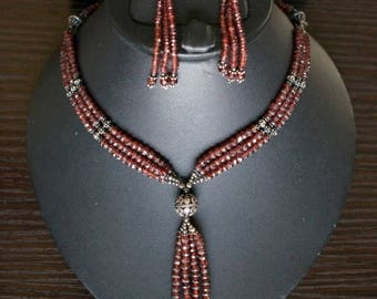ON SALE Stunning GARNET Necklace