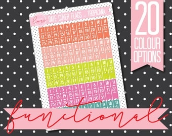 DATE COVER FLAGS - Functional Stickers - Planner Stickers Matt