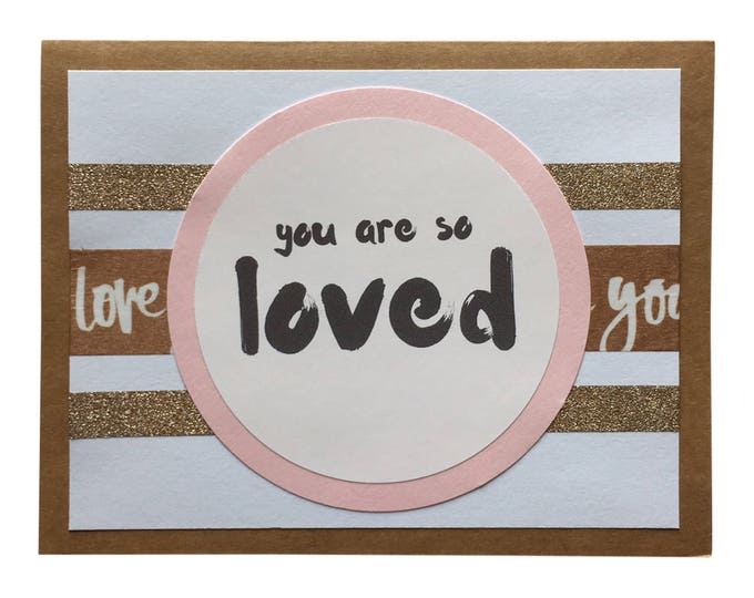 Baby Girl Greeting Card - You Are So Loved