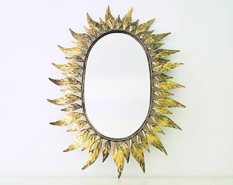 Espejo sol ovalado / oval sunburst mirror