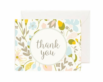"""Floral """"Thank You"""" Greeting Card"""