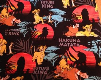 Lion Fabric/Lion King Fabric/ Lion King Baby/ Disney Fat Quarter/ Simba Fabric/by 1/2 Metre/by Metre/Hakuna Matata/Craft DIY