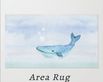 Whale Rug Etsy