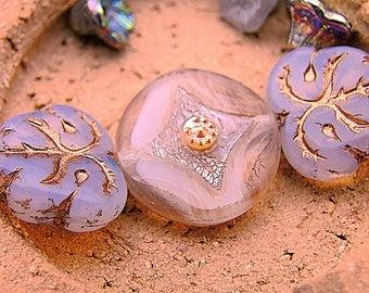 creative mix assortment 3 pearls of Bohemia - autumn you la? 1 cabochon Pearl iridescent
