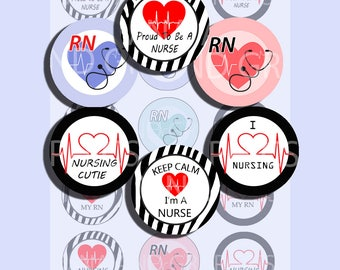 Nurse bottle cap images, Nursing - Being a Nurse 1 Inch bottle cap IMAGES  Printable - INSTANT DOWNLOAD