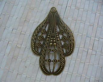 bronze colour Tibetan silver OWL charm pendant