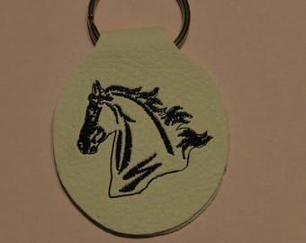 escutcheon key leatherette horse
