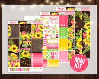 Sunshine // MINI Kit [MK083] -Stickers for the Erin Condren Happy Planner Life planner
