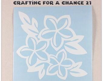 Plumeria Flower Vinyl Decal, Plumeria Flower Decal, Plumeria Flower, Car Decal, Vinyl Decal, Vinyl Sticker, Laptop Decal, Yeti Decal, Decal