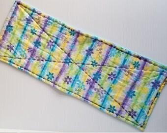 Purple Flower Flannel Burp Cloth, Baby Burp Cloth, Flannel Burp Cloth, Double Thick Burp Cloth, Aqua Burp Cloth-Ready to Ship
