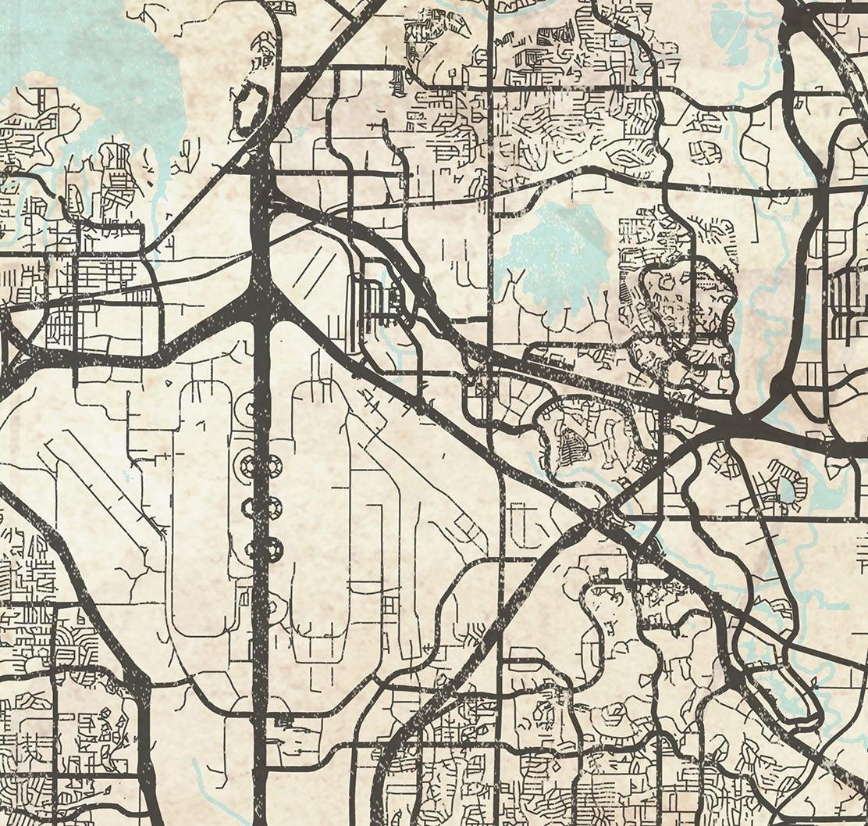 Dallas Fort Worth Texas: DALLAS & FORT WORTH Texas Tx Canvas Print Texas Tx Vintage