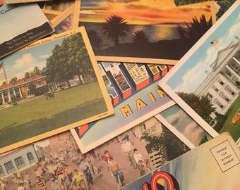Random Lot of 20 Antique and Vintage Postcards