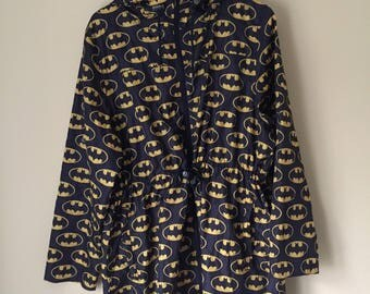 90s batman raincoat size large