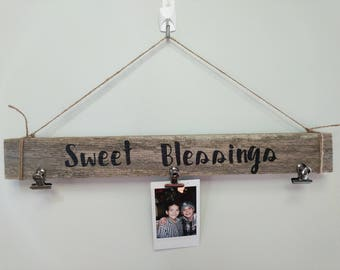 Sweet blessings wood sign