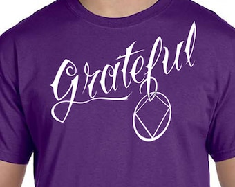 NA - GRATEFUL - T-shirt - Color Options - S-3X - 100% cotton - Free Shipping - Narcotics Anonymous