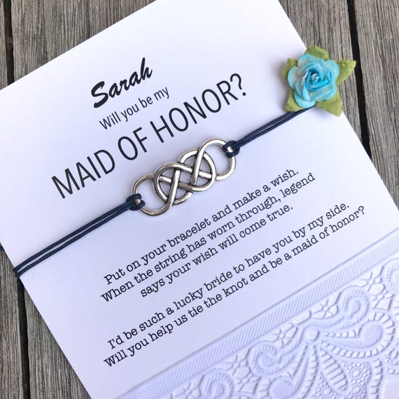 Maid Of Honor Proposal Asking Ask Ideas Personalized Jewelry Gift B1