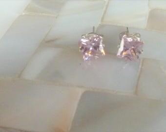 Boucles d'oreilles en argent Quartz rose princesse ***Expédition gratuite au Canada**Free shipping in Canada