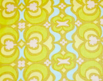 Amy Butler Midwest Modern Garden Maze in lime -  cotton quilting fabric by the yard