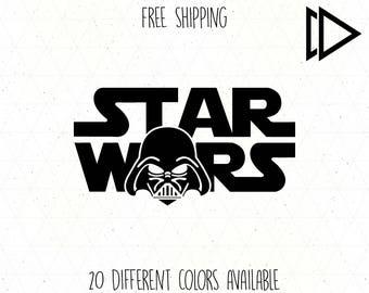 Star Wars Darth Vader Helmet Logo Decal