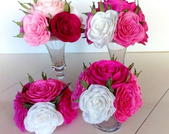 paper flowers Centerpieces table bouquet kate bridal baby shower spade Wedding sweet 16 Table decor tea party birtday baptism Prom Nursery