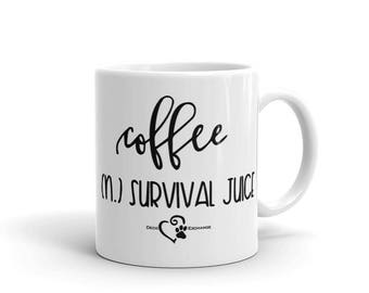 Coffee Survival Juice - Mug - DecoExchange