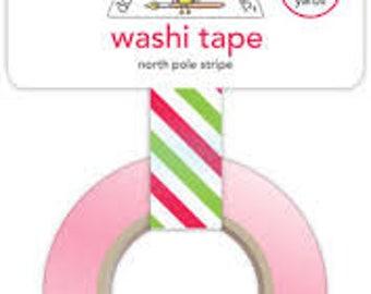 Doodlebug | Santa Express | Christmas Stripe Washi Tape