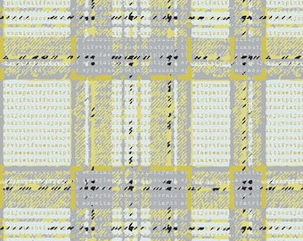Type-plaid Abstrusity Pastel Thrift by Art Gallery Fabrics - PST-85509 - Plaid Cotton - 100% Quilting Cotton