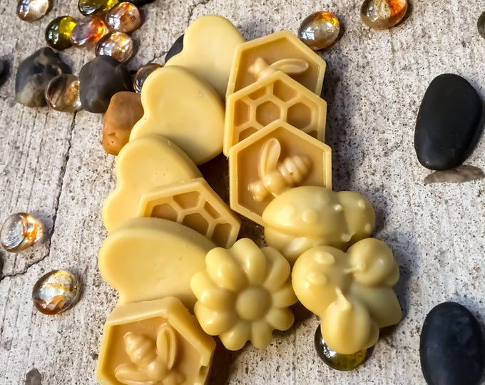 Pure organic Beeswax melts made with local Georgia beeswax in a variety of scents-natural scents-holiday scents-holiday scented beeswax melt