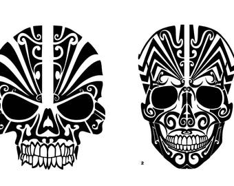 Skull Car Decal Etsy - Skull decals for trucks