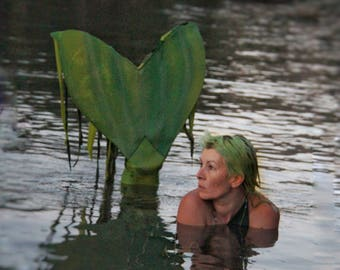 Swimmable, swamp pond amphibious adult mermaid tail for swimming