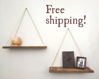 Hanging shelves, Planter, Hanging planter, Bathroom Wall Decor, Rustic Shelves, Wall Planter, Shelves, Bathroom Shelves, Wall Shelves, Wall