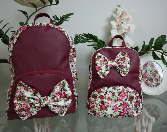 School Burgundy Fairy Backpack