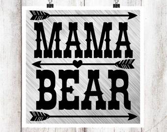 Mama Bear SVG/DXF/EPS File