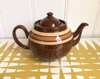Splendid Vintage ALB Brown Betty Teapot. Retro Tea Pot Classic!