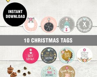 Christmas tag printable, Gift tag, Christmas Tags, Printable christmas tags, Christmas gift tags, Digital christmas tags, christmas label