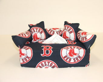 Boston Red Sox MLB Licensed fabric tissue box cover,