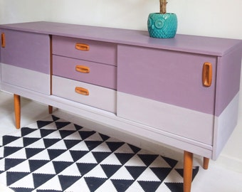 Mid century vintage retro sideboard upcycled Schreiber EtsyXAnnieSloan
