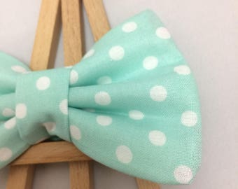 Aqua Dot Bow Tie | Dog Collar Bow Tie | Polka Dot Bow Tie | Dog Bow Tie | Pet Bow Tie | Aqua Blue Bow Tie | Bow Tie for Dogs