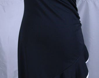 Amazing Black One Shoulder Dress made by Finesse