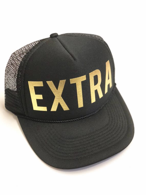 EXTRA Trucker hat Gold Vinyl Print| Urban Hat| Made in Hawaii