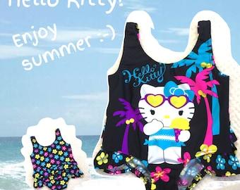 Sale! 20% Off, Girls Swimming Suit , Bathing Suit Girl, Black White Pink Blue, Bathing Girl, Birthday Girl, Swimming Pool Costume